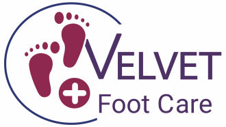 Velvet Foot Care Logo, link to home page